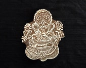 Hindu God Lord Ganesha Indian block printing stamps/wooden block for printing/ paper and fabric printing stamp