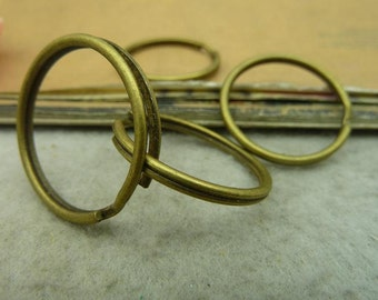 30pcs 25mm  Antique Bronze Vintage key ring /jump rings    Necklace, Jewelry ,Ring Fittings