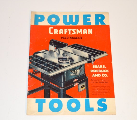 1953 craftsman power tools catalog 1953 models sears by for Who makes power craft tools