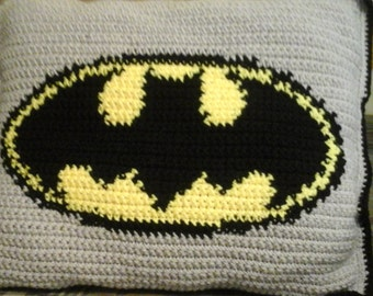 Batman Afghan and matching pillow