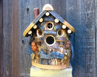 Rustic Maple Birdhouse #8