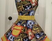 Women's Apron-Vintage Zombie Horror Movie Posters Halloween Flounce Apron