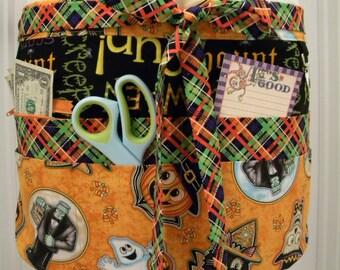 Teacher Crafter Vendor Utility Apron-Vintage Masks & Monsters
