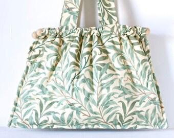 Green Leaves - Hobo Handbag - Large Boho Bag