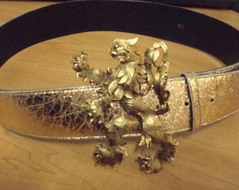 Gold baroque belt