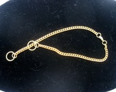 """12 1/2"""" Gold Show Choke Chain Anklet"""
