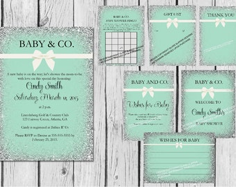Printable baby and co baby shower bundle/baby shower bundle/baby shower decor/baby shower games/baby shower invitations/wishes for baby