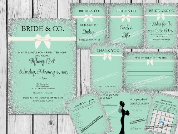 Printable Bride and Co bridal shower bundle/bridal shower bundle/bridal shower decor/bridal shower games/bridal shower invitations