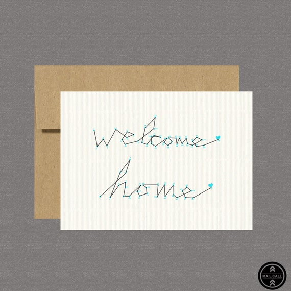 Military Greeting Card - Welcome Home - Care Package, Boot Camp, Basic Training, Deployment, Military Card
