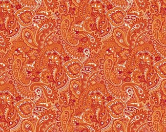 06325 -  Springs Creative Products Quilting Basics Gadabout Paisley in Flame - 1 yard