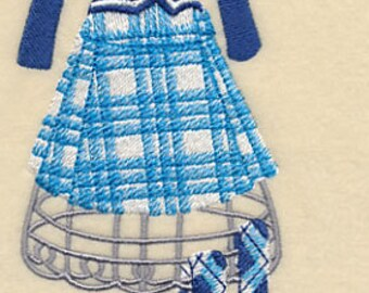 Scottish Dress Form Embroidered Flour Sack Hand/Dish Towel