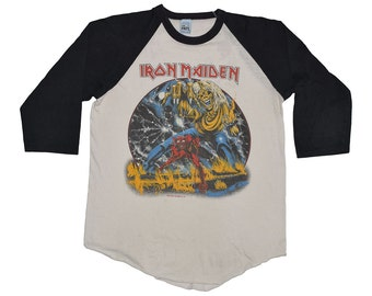 Iron Maiden Number of The Beast Concert Shirt Original 1982 Vintage Tshirt Large