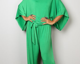 Green Jumpsuit - Jumper Maxi Dress : Chic & Casual Collection No 1