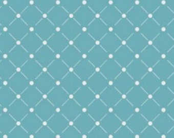 Rise & Shine - Lattice in Teal from Camelot Cottons