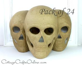 Halloween Skull Skeleton Mask, 8 Inches, Pack of TWENTY FOUR,  Darice Craft, Paper Mache  Decor, Wreath & Craft Supply