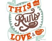 Love and Coffee - 8x10 Print