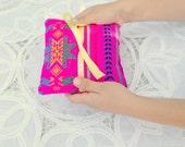 Pink Ring Bearer Pillow - Red Mexican Mini Cushion - Aztrc nursery Decor - Wedding Decoration - Home Decor - Bowl Filler