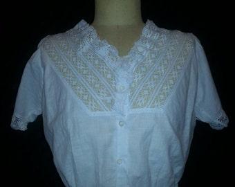 Victorian Cotton Lace Camisole