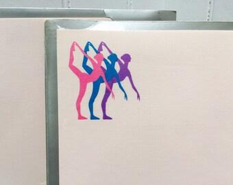 NOS/Deadstock!  Vintage 1980s Ballet Dancer Stationery Paper/Envelope Set