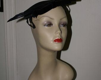 VINTAGE 1950'S NEW Look Hat, Vintage Cocktail Hat