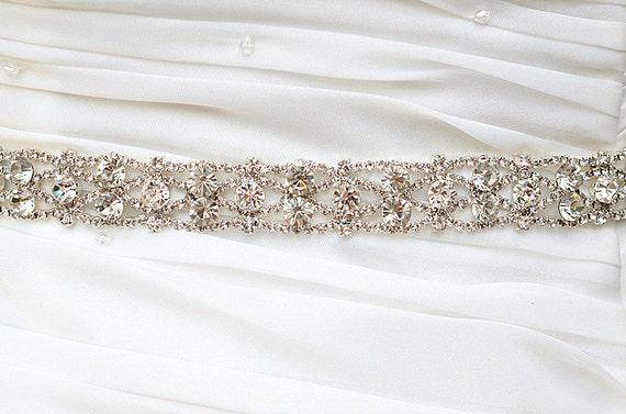 SALE JOY Swarvoski wedding bridal rhinestone sash, belt, head band