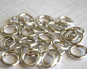 Jump Ring Silver Plated Aluminum 12mm Jewelry Supplies - 25 Pieces
