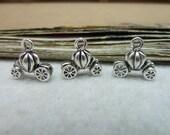 50pcs 12x13mm Pumpkin Cart Silver White Retro Pendant Charm For necklace Jewelry /Pendants C8085