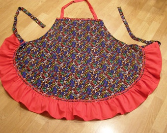 Plus size Apron covered with musical  notes