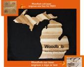 14'' Michigan personalized cutting board cutting boards wood best cuttingboard wooden cutting boardcutting board personalized engraved gifts