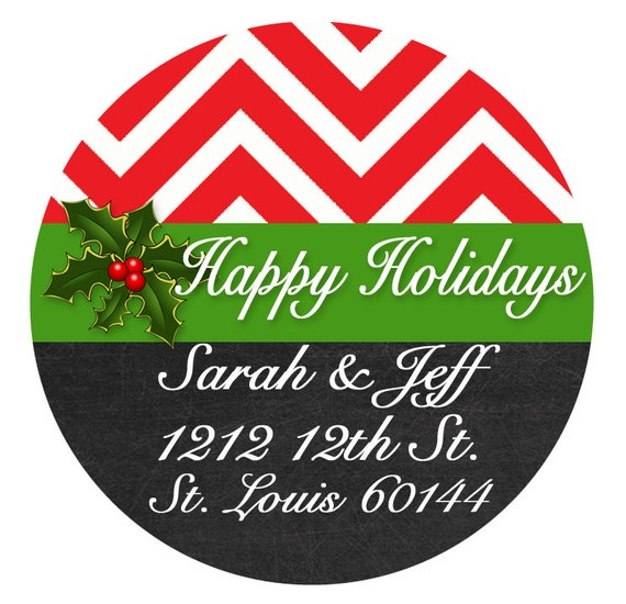christmas labels for envelopes editable address label
