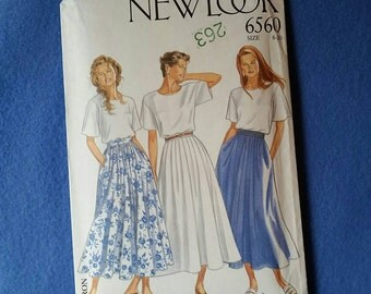 Uncut Vintage New Look Sewing Pattern - 6560 - Misses' Skirt - sizes 8 to 20