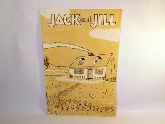 Vintage jack and jill magazine august 1943 childrens stories for Jack and jill stories