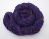 "Handspun Singles Yarn- Fingering Weight, 331m, 108g, , Hand Dyed Teeswater, & Silk, ""One more piece..."""