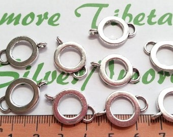 18 pcs per pack 22x14mm 9mm opening 2.75 thickness Charm holder Connector Antique Silver Finish Lead free Pewter