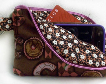 Chocolate Small Cell Phone Wallet