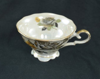 Scalloped Lusterware Teacup made in Japan