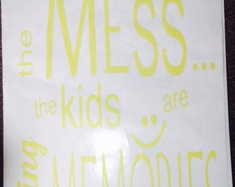 Kids making memories vinyl wall art