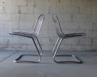 CHROME mid century Modern TUBULAR Chair