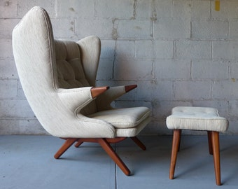 PAPA BEAR styled mid century Lounge Chair