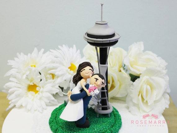custom wedding cake toppers nz custom wedding cake topper at space needle by 13258
