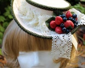Eton's Delight, Modified Boater Hat - Handmade - One of a Kind - Summer - Picnic