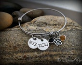 Mizzou Bangle Bracelet - College Adjustable Bangle Bracelets - Graduation Gift Ideas - Personalized College Gifts - The Charmed WIfe