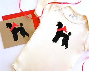 Poodle Baby Clothes - Jumper Infant Romper Outfits - Standard One PIece Gifts for Dog Lovers - Babies Cards - First Christmas - Birthday Toy