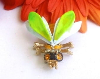 Articulated Insect Bug Brooch Pin Figural Fun Fashion Jewelry