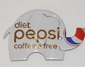 Baby ELEPHANT Magnet - Diet Caffeine Free PEPSI Soda Can