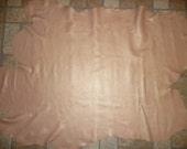 """Leather 37""""x30"""" Rose Gold on ITALIAN Lambskin 10.75 sq ft Hide 1.5-2 oz/.6-.8 mm PeggySueAlso #374"""