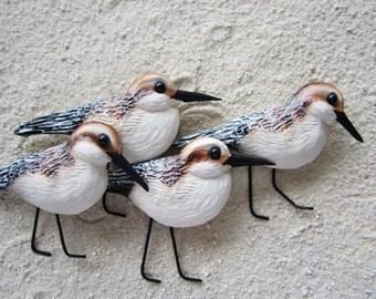 shorebird wall art sculpture-sanderling wall art-nautical decor-sandpiper wall sculpture