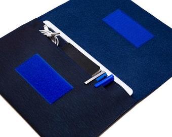 Cute iPad mini case / iPad mini 3 cover / iPad mini sleeve / ipad mini case with keyboard - Navy