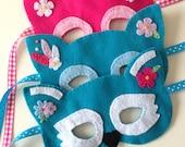 Kids Dress Up Pretend Play Costume Masks Woodland Animals Owl & Fox