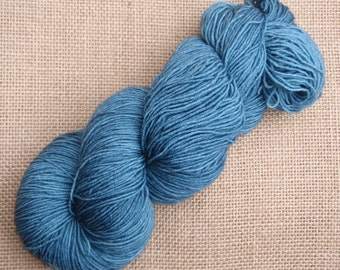 """Hand dyed British Bluefaced Leicester/nylon sock yarn in """"Vulcan"""""""